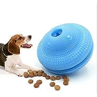 FineInno Jouet pour Chien Ballon IQ Treat Ball Balle a Macher Balle Friandise Dog Food Dispenser Animaux Jouets Interactifs Atoxique TPR l'entraînement à la Mâchoire et Balle pour Nettoyer Les Dents