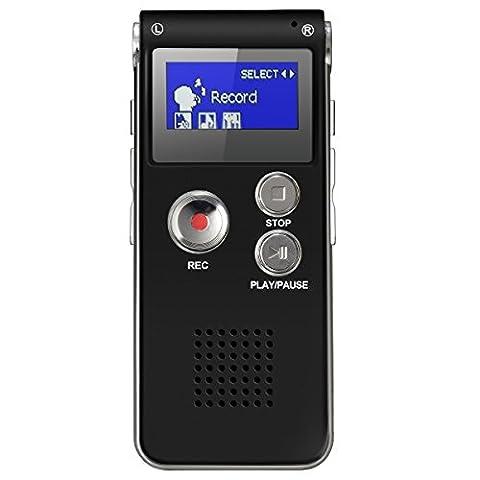 Enregistreur Audio Numerique - ELEGIANT 8GB Dictaphone Enregistreur Numérique Enregistreur Audio