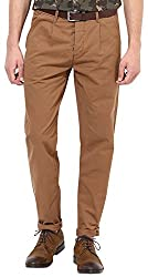 JACK & JONES Mens Casual Trousers (Dark Camel) (5712411840780)