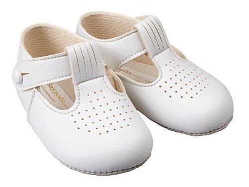 Earlydays Baypods Chaussures pour bébé avec trous Faites en Angleterre Blanc - white matt