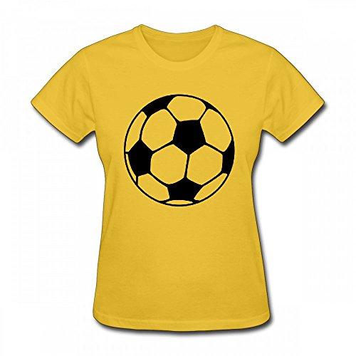 qingdaodeyangguo T Shirt For Women - Design A Football Shirt Yellow