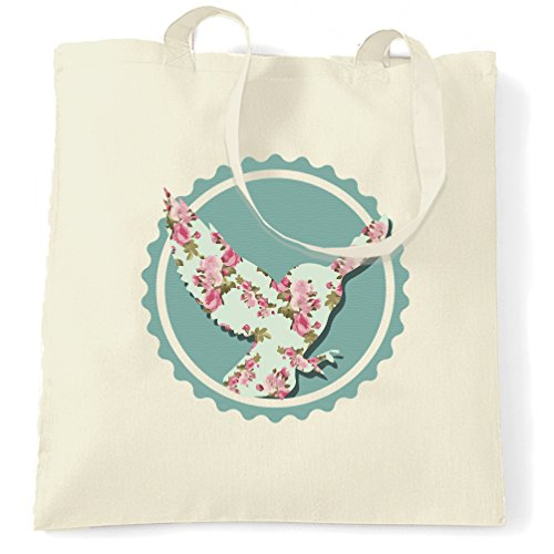 Pastell Schatten (Vintages Blumenmuster Owl Printed Slogan Zitat Design Premium Tragetasche)
