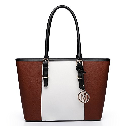 Miss Lulu , Damen Schultertasche 1661 Brown