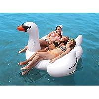 White Giant Swan Pool Float - 150 Cm