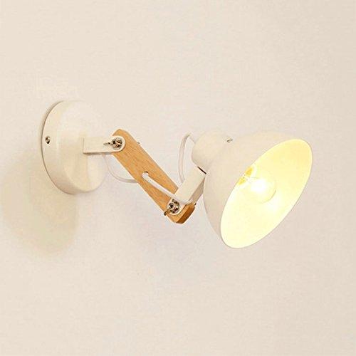 WOOE Art Deco Lampes murales Métal Moderne Blanc Noir Lumières murales pour éclairage domestique Escalier intérieur Chambre Salle de bain Loft Style (Color : White)