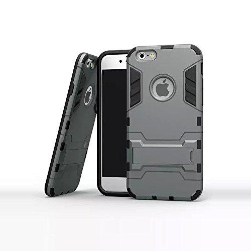 iPhone 6Cas, Fashion Coque en TPU Housse de protection pour iPhone 6Coque 11,9cm avant avec stylet/film de protection d'écran transparent/Support Gris