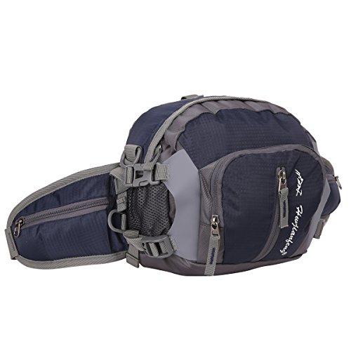 EVERGO bolso de cintura paquete de cintura para hombre mujer al aire libre correr escalada deportes, negro