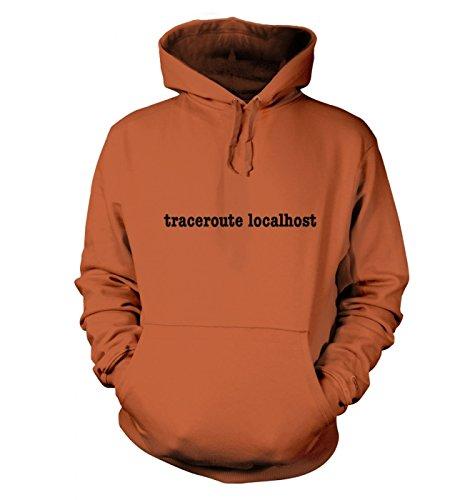 Traceroute localhost hoody (X Large (48 Chest)/Burnt Orange ) (Hoody Sweatshirt Burnt Orange)