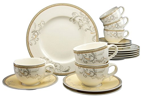 Creatable 17801, Série Villi Medici, Service à café de 18 pièces, Porcelaine, Multicolor, 36 x 28,5 x 27,5 cm
