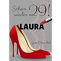 Lustige Karte zum 30 / 40 / 50 Geburtstag für Frauen in DinA4: Motiv High Heels - als Geschenk für Dich personalisiert