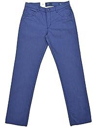 Brax Hose Modell: Cadiz Summer Pinpoint Struktur Baumwolle Blau