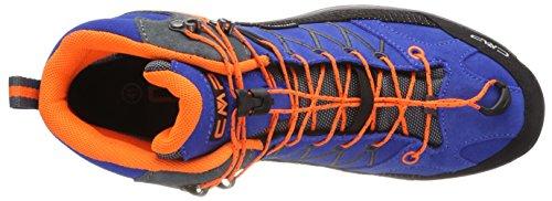CMP Rigel, Scarpe da Arrampicata Unisex Blu (Zaffiro-Grey-Orange Fluo)