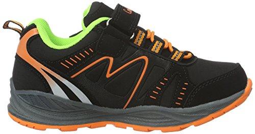 Conway 155806, Chaussures Multisport Outdoor Mixte Enfant Multicolore - Mehrfarbig (schwarz/orange/grün)