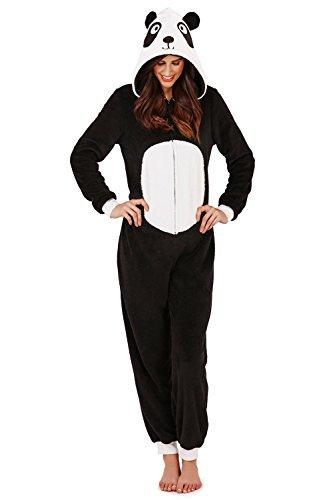 Damen Overall Loungeable Damen Pyjama 3D Ohren Overall Schlafanzug - Paula Der Panda, 48-50