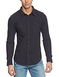 Lee Herren Slim Fit Freizeit Hemd Western Shirt