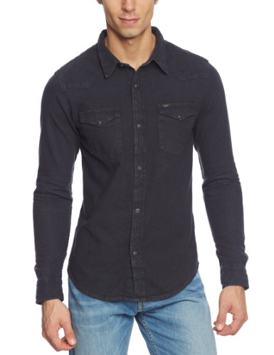 lee-lee-western-shirt-camisa-de-manga-larga-para-hombre-color-pitch-black-talla-s