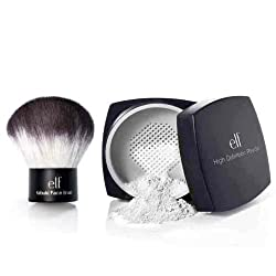 47krate elf Studio High Definition Loose Face Powder and Studio kabuki face brush