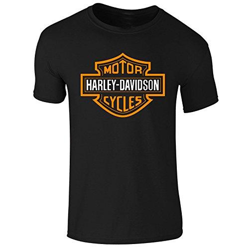 hombre-roundneck-impreso-manga-corta-harley-davidson-moto-t-camiseta-sudadera-con-capucha-talla-s-m-