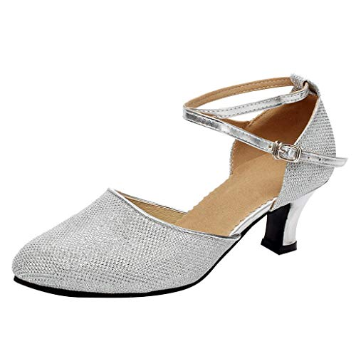 ❤ Amlaiworld Damen Ballsaal Tango Latin Salsa Tanzschuhe Pailletten Schuhe Social Dance Schuh