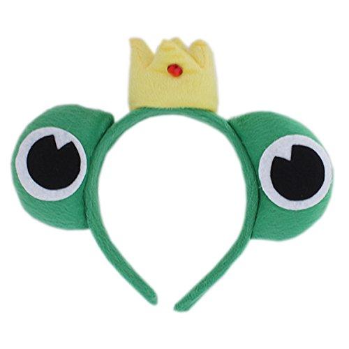Plush Animal Prince Frog Headband - Green (1f384) - Kids Cartoon Animal Theme Party props