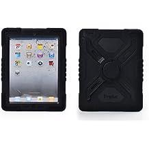 Pepkoo a prueba de choques silicona caso - Carcasa con función atril para iPad mini y iPad mini 2 - Negro