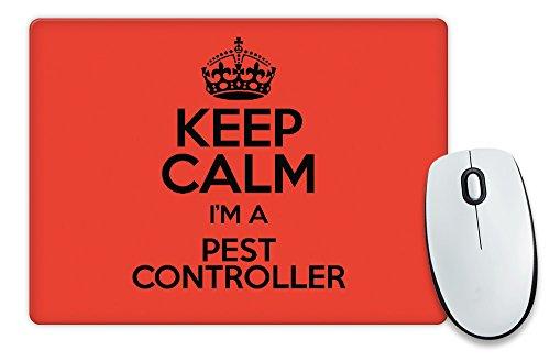 Rot Keep Calm I 'm a Pest Controller Mauspad Farbe 3430 (Pest Controller)