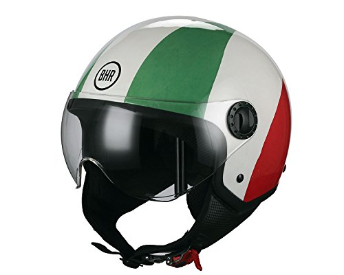 CASCO MOTO BHR DEMI-JET MOD ONE 801 COLORI BANDIERA ITALIA TAGLIA L