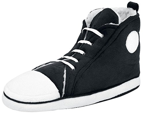 Hi top slippers men's size uk 7-10 black