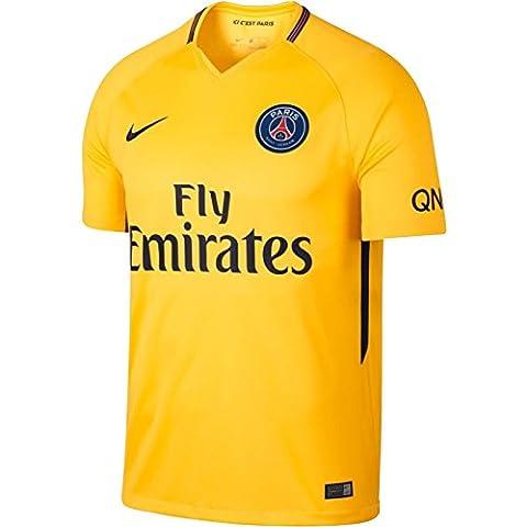 Kids' Breathe Paris Saint-Germain Stadium Jersey TOUR YELLOW/MIDNIGHT NAVY 17/18 Paris Saint Germain Nike 8/10 ANNI - AGE TOUR YELLOW/MIDNIGHT NAVY