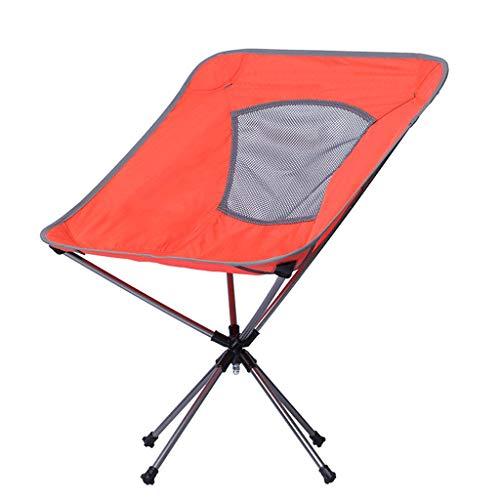 HUXIUPING Tabouret Pliant Famille Pique-Nique Alpinisme Pratique transportant Bon Soin Jardin Camping (Color : Orange)