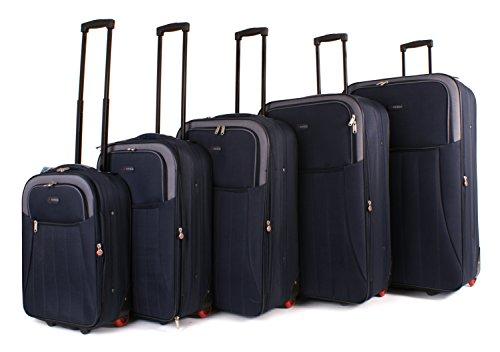 TOPLITE – Juego de maletas  Hombre unisex adulto Mujer azul Luggage set