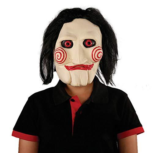 Neue Halloween Maske Chainsaw Cry Thema Terror Maske Killer Latex Maske Party Clown Kopfbedeckungen Unisex 1 Stücke Stücke Erwachsene Geschenk,White,Onesize