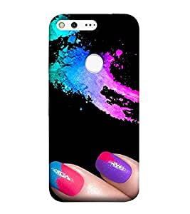 For Google Pixel XL abstract colored fluid,color fluid, black background Designer Printed High Quality Smooth Matte Protective Mobile Pouch Back Case Cover by BUZZWORLD