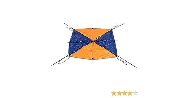Campfine 4-5 Personne Bateau pneumatique Parasol Voile Voile auvent Toit Tente de p/êche