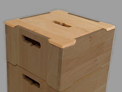Deckel für kleine Holzkiste / Stapelbox 'Köln' 6033 | Kinder-Stapelboxen in vielen Größen vorrätig | für Kindergarten und jedes Kinderzimmer | vielfältige Einsatzmöglichkeiten