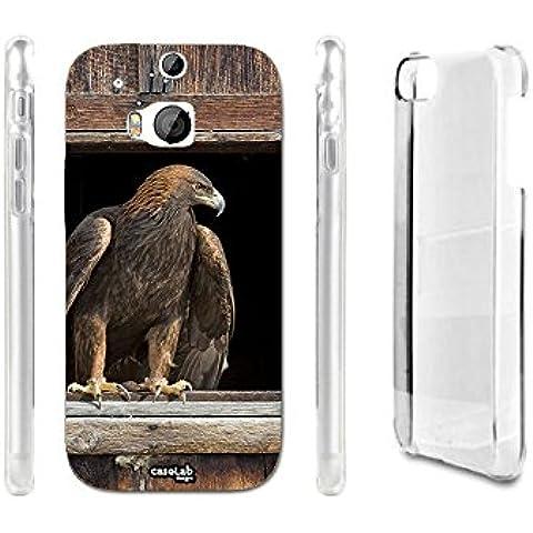 CASELABDESIGNS COVER CASE CRYSTAL AQUILA FINESTRA PER HTC ONE M8 - CUSTODIA IN PLASTICA (1 Posteriore Finestra Grafica)