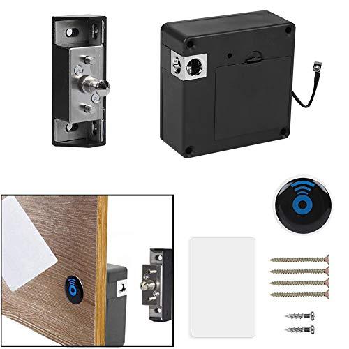 Wendry Cerradura de Cajones y Gabinetes,RFID Candados Inteligente para Armarios Ocultos,con Lector Invisible,Adecuado...