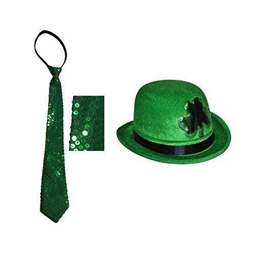 St. Patricks Day Leprechaun - Melone in grün mit Kleeblatt mit ()