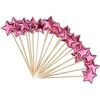 LOVIVER 20 Piezas de Pastel de Estrellas Pastelitos para Cumpleaños Decoración de Fiesta De ...
