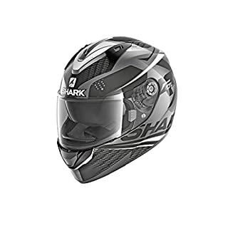 Shark Ridill Stratom Full Face Helmet Black Anthracite White AKW Size XS