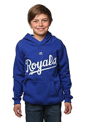 Kansas City Royals Wordmark Twill Fleece Kids Hoodie Size 4