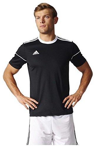 adidas Herren Squadra 17 T-Shirt, Black/White, L (Gesticktes Adidas Logo-t-shirt)