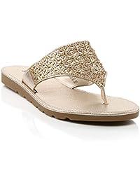 dade114be34bb ... e borse   Scarpe   Scarpe da donna   Pantofole   Oro. Shalimar Shoes