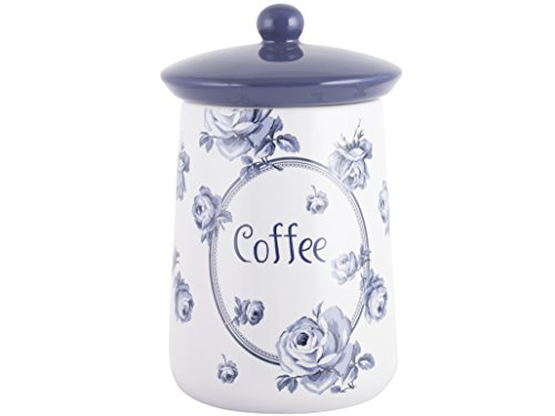 Katie Alice Creative Tops Keramik Cottage Flower, keramik, blau, 16.000x9.500x9.500 cm