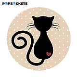 PopSockets - Ausziehbarer (Nicht Austauschbarer) Sockel und Griff für Smartphone und Tablet - Cat