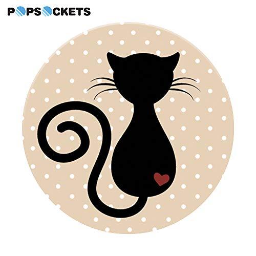 PopSockets - Ausziehbarer (Nicht Austauschbarer) Sockel und Griff für Smartphone und Tablet - Cat -