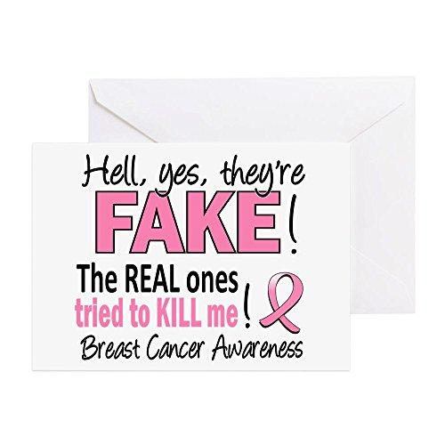 sind Fake Brustkrebs, Grußkarte, Note Karte, Geburtstagskarte, innen blanko, glänzend ()