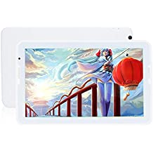TCYP Tablet de 10.6 pulgadas Android 5.0, Touch Pad, Núcleo Quad Core , Wifi, 3G, 1.5 GHz Memoria de 16 GB, 1 GB de RAM, Pantalla HD 1366 * 768,2MP / 5MP Trasero, 8000mAH Batería 10 horas, Soporta OTG a HOST, Tablet PC HD Android Lollipop Blanco
