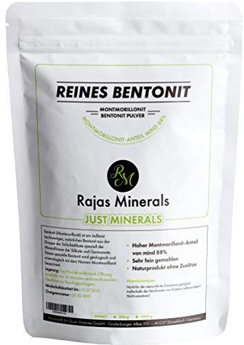 reines Bentonit-Pulver 1 Kg extra fein (Montmorillonit-Anteil bis 95% ) natürliche Detox Mineralerde in Premium Qualität (1000 g) -