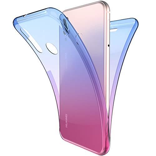 Coque Huawei P20 Lite,ikasus Intégral 360 Degres avant + arrière Full Body Protection Couleur de dégradé Transparente Silicone Gel TPU Souple Housse Etui Case Coque pour Huawei P20 Lite,Bleu Violet